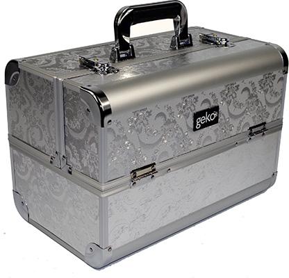 GEKO Vanity Case Silver Leaf Design