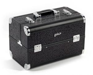 GEKO Vanity Case Heavy Duty Black Glitter Accessories