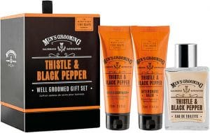 Scottish Fine Soaps  Thistle & Black Pepper Well Groomed Set For Men
