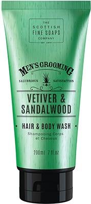 Scottish Fine Soaps  Vetiver & Sandalwood Hair & Body Wash Bath & Body
