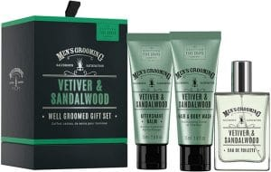 Scottish Fine Soaps  Vetiver & Sandalwood Well Groomed Set For Men