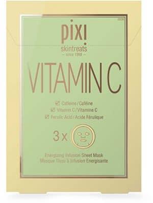 Pixi Vitamin C Energizing Infusion Sheet Mask Cleansing & Masks