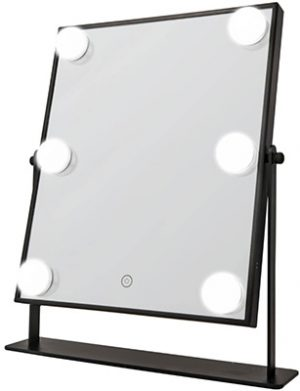 Hollywood LED HOLLYWOOD mirror black with 6 bulbs Accessories