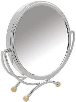 Danielle 20cm Chrome/ Gold Table Mirror x 10 Mag Accessories