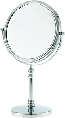 Danielle Round Chrome Vanity Mirror x 10 Mag Accessories