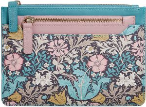 Morris & Co.  Honeysuckle & Pink Clay – Travel Wallet & Coin Purse Accessories