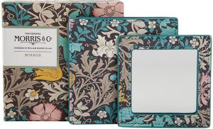 Morris & Co.  Honeysuckle & Pink Clay – Mirror in Pouch Accessories