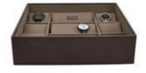 Stackers   Men Casual Watch Box Brown/ Khaki x 15 pc Accessories