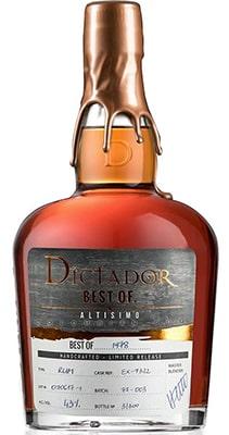 Dictador Gin 1978 Apasionado Rum