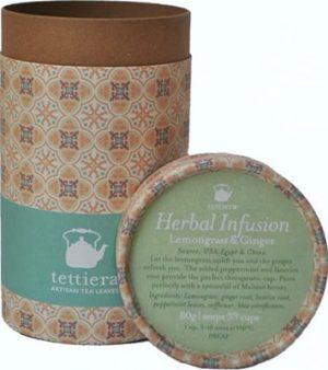 Tettiera Lemongrass & Ginger Tube 80grms Coffee & Tea