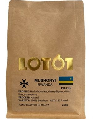 Lot 61 Rwanda Kaymubu Natural Coffee 250grms Coffee & Tea