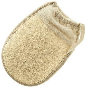 Hydrea London Organic Egyptian Cotton & Loofah Elasticated Mitt Bath & Body