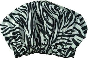Hydrea London Shower Cap – Zebra Pattern Bath & Body