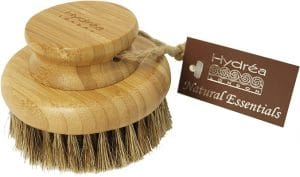 Hydrea London Bamboo Round Body Brush with Mane & Cactus Bristle Accessories