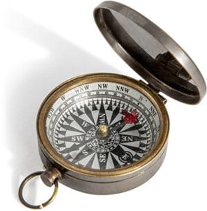 Authentic Models Small Compass – Bronze Accessories