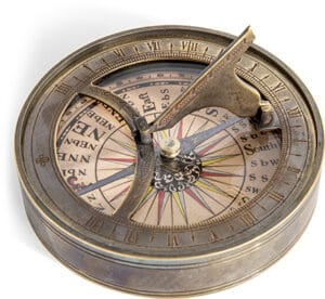 Authentic Models 18th Century Sundial & Compass Accessories
