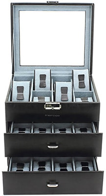 Friedrich Watch Case Bond Synthetic – Black x 24 watches Accessories