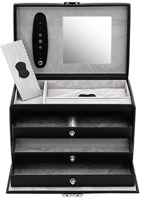 Friedrich Jewellery Case Leather Synthetic – Black Accessories