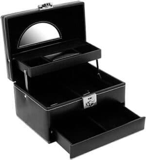 Friedrich Jewellery Case London Leather – Black – Pyramid Accessories