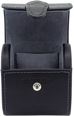 Friedrich Watch Roll Infinity Top Grain Leather – Black Accessories