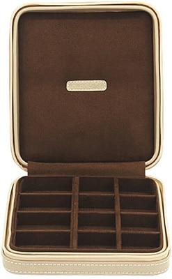 Friedrich Jewellery Case Cordoba Leather Beige Zip Accessories