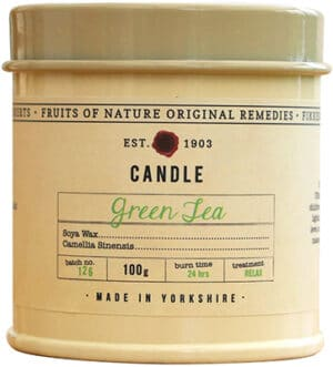 Fikkerts  Green Tea Candle Tin Small Accessories