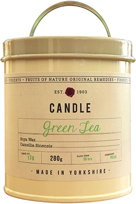 Fikkerts  Green Tea Candle Tin Large Accessories