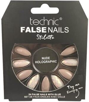 Technic  False Nails Stiletto Nude Holographic False Nails